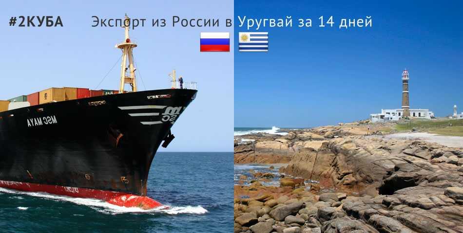 Доставка (экспорт) товаров из России в Уругвай